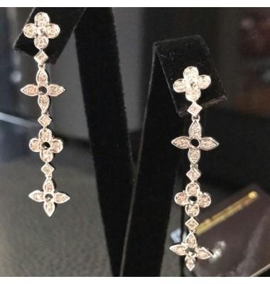 Серьги дизайнерские с бриллиантами