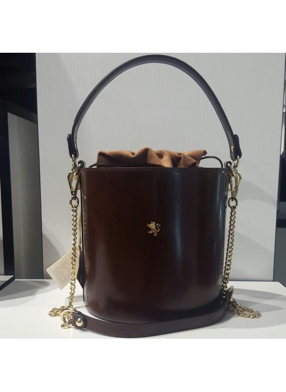 Pratesi Cross-Body Bag Secchiello in cow leather - Radica Coffee