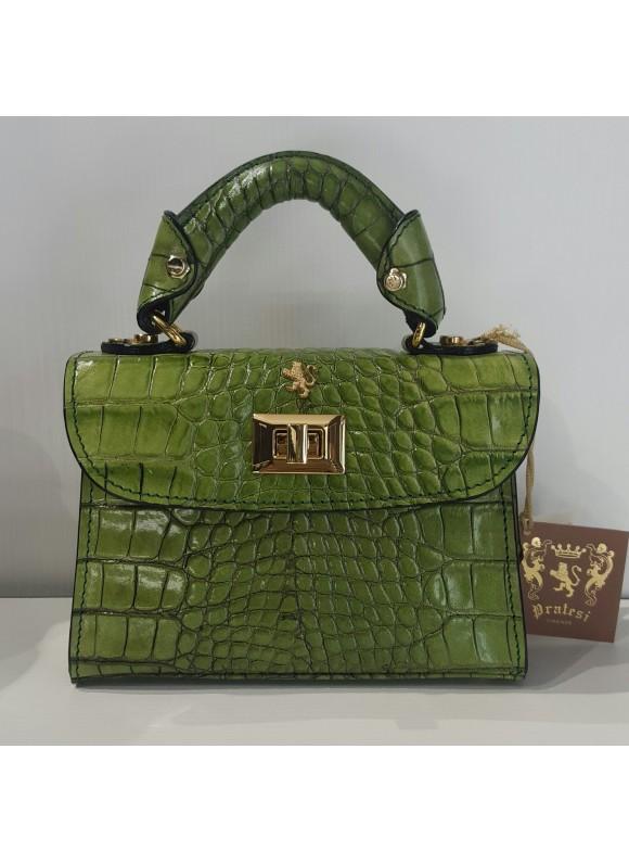 Pratesi Lucignano Small Handbag in cow leather - King Green
