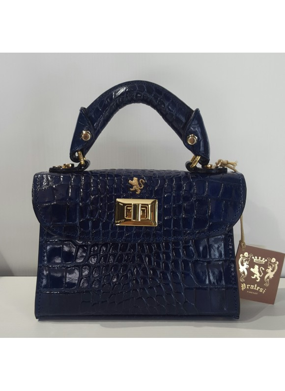 Pratesi Lucignano Small Handbag in cow leather - King Blue