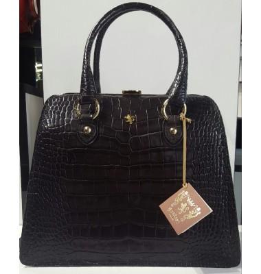 Pratesi Saturnia Big Lady Bag  in cow leather - King Grey