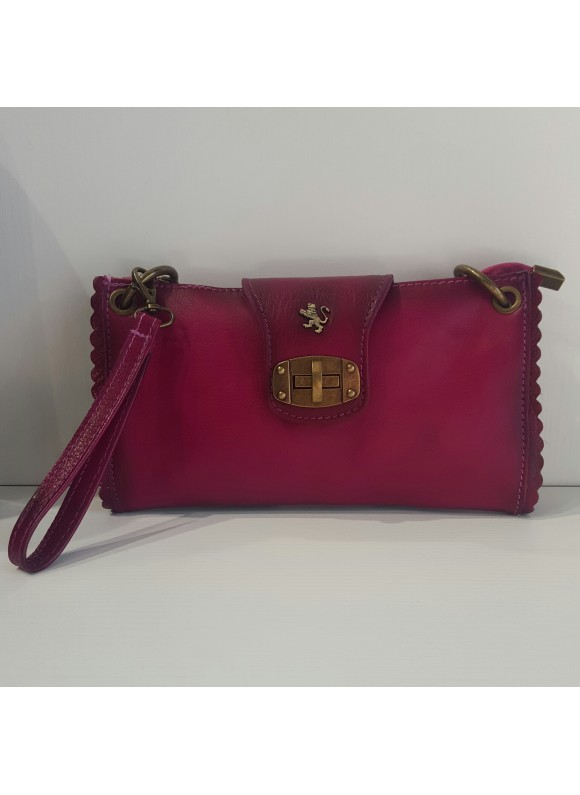 Pratesi Woman Bag Pontremoli in cow leather - Bruce Fucsia