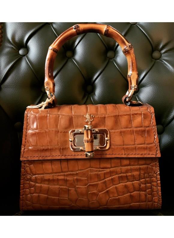 Pratesi Castalia Lady Bag in cow leather - King Cognac