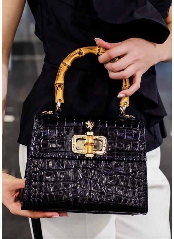Pratesi Castalia Lady Bag in cow leather - King Nero