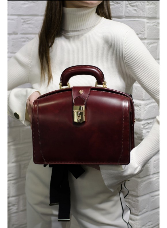 Pratesi Miss Brunelleschi Bag in cow leather - Radica Chianti