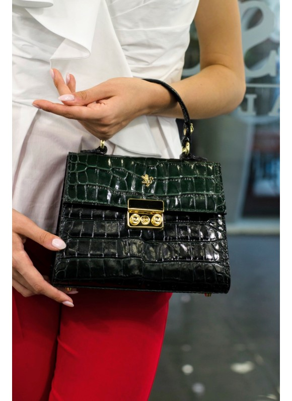 Pratesi Artemisia Lady Bag in cow leather - King Verde Scuro