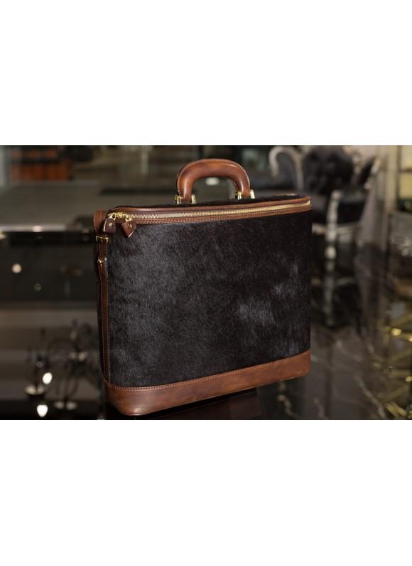 Pratesi Raffaello Cavallino Laptop Bag in real leather - Cavallino Coffee