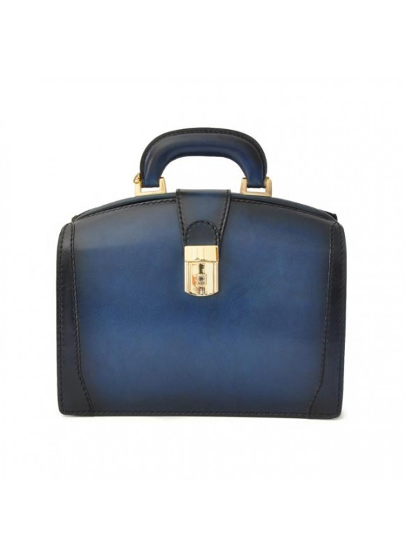 Pratesi Miss Brunelleschi Santa Croce Handbag in real leather - Santa Croce Blue
