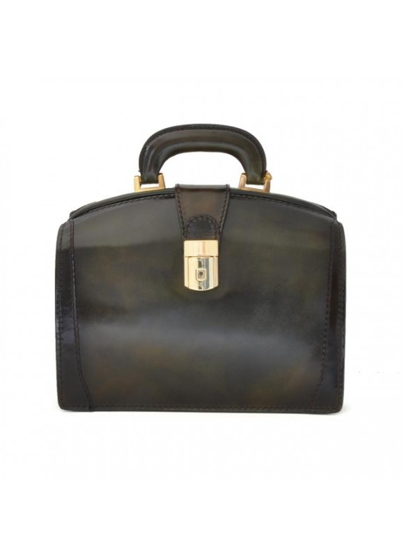 Pratesi Miss Brunelleschi Santa Croce Handbag in real leather - Santa Croce Dark Green