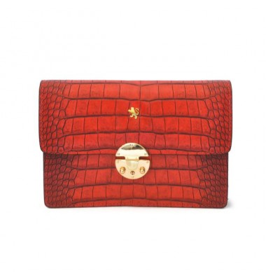 'Pratesi Lucrezia De'' Medici King Cross-Body Bag in cow leather - King Cherry'