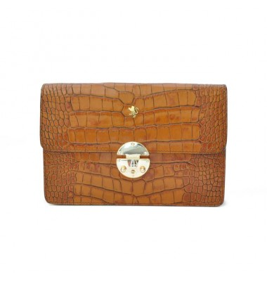 'Pratesi Lucrezia De'' Medici King Cross-Body Bag in cow leather - King Cognac'