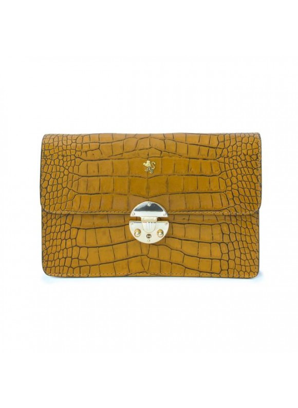 'Pratesi Lucrezia De'' Medici King Cross-Body Bag in cow leather - King Mustard'