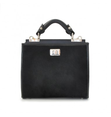 'Pratesi Anna Maria Luisa de'' Medici Small Cavallino Woman Bag in real leather - Cavallino Black'