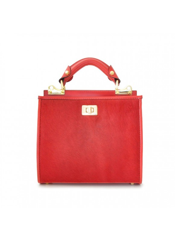 'Pratesi Anna Maria Luisa de'' Medici Small Cavallino Woman Bag in real leather - Cavallino Cherry'