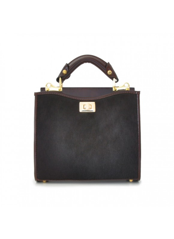 'Pratesi Anna Maria Luisa de'' Medici Small Cavallino Woman Bag in real leather - Cavallino Coffee'