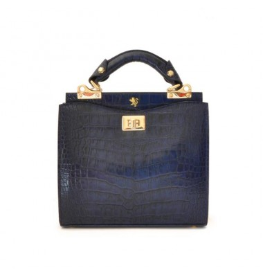 'Pratesi Anna Maria Luisa de'' Medici Small King Lady Bag in cow leather - King Blue'
