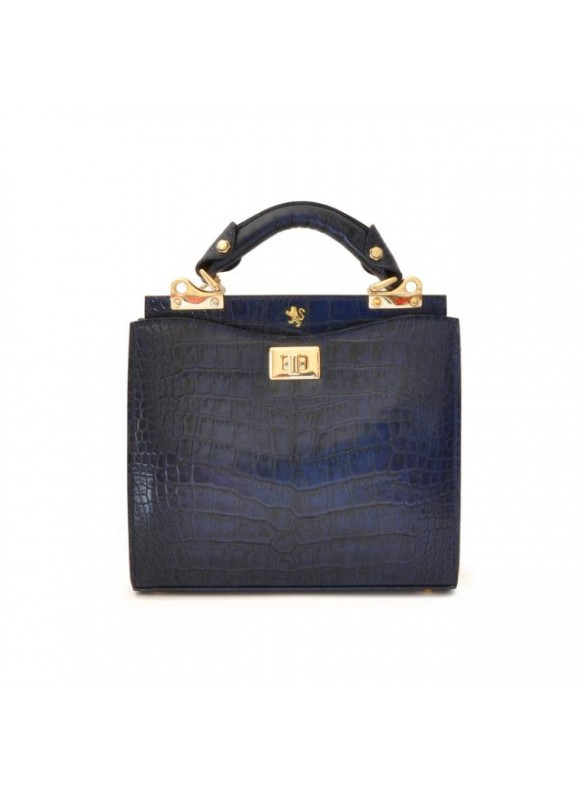 'Pratesi Anna Maria Luisa de'' Medici Small King Lady Bag in cow leather - King Blue'