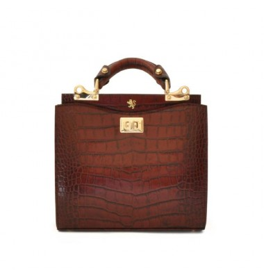 'Pratesi Anna Maria Luisa de'' Medici Small King Lady Bag in cow leather - King Brown'
