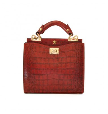'Pratesi Anna Maria Luisa de'' Medici Small King Lady Bag in cow leather - King Cherry'