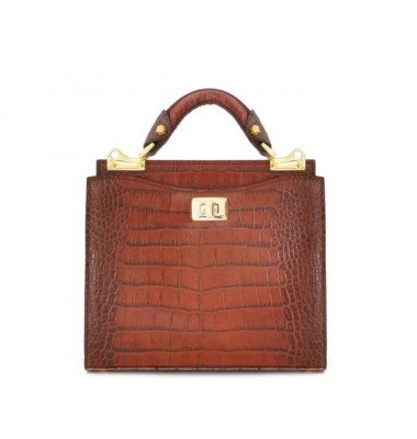 'Pratesi Anna Maria Luisa de'' Medici Small King Lady Bag in cow leather - King Cognac'