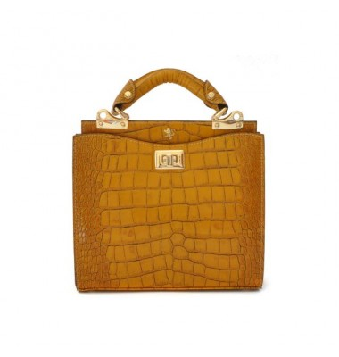'Pratesi Anna Maria Luisa de'' Medici Small King Lady Bag in cow leather - King Mustard'