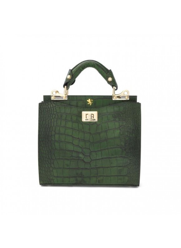 'Pratesi Anna Maria Luisa de'' Medici Small King Lady Bag in cow leather - King Green'