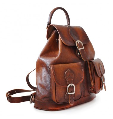 Pratesi Backpack Caporalino in cow leather - Bruce Brown