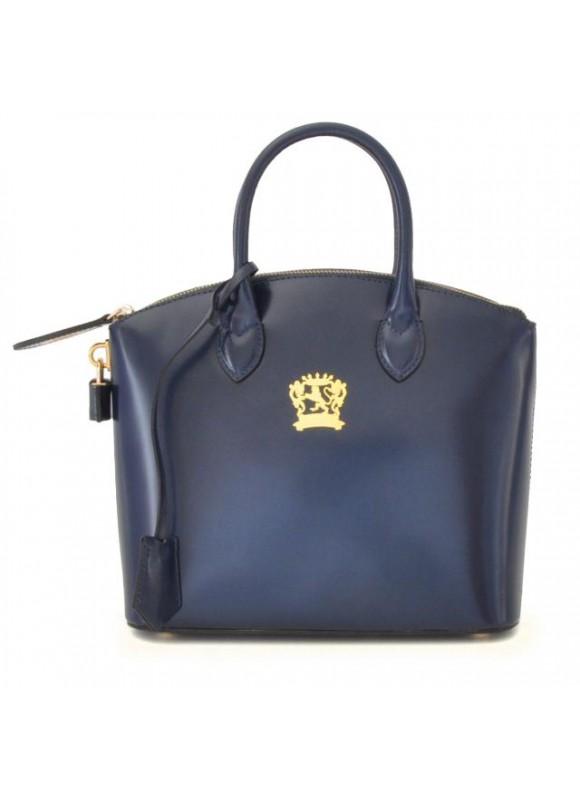 Pratesi Versilia Small Handbag in cow leather - Radica Blue