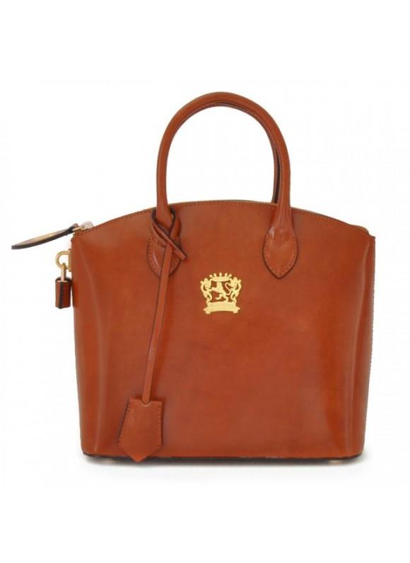 Pratesi Versilia Small Handbag in cow leather - Radica Brown