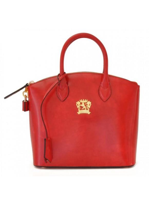 Pratesi Versilia Small Handbag in cow leather - Bruce Cherry