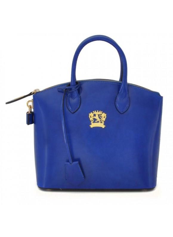 Pratesi Versilia Small Handbag in cow leather - Bruce Electric Blue