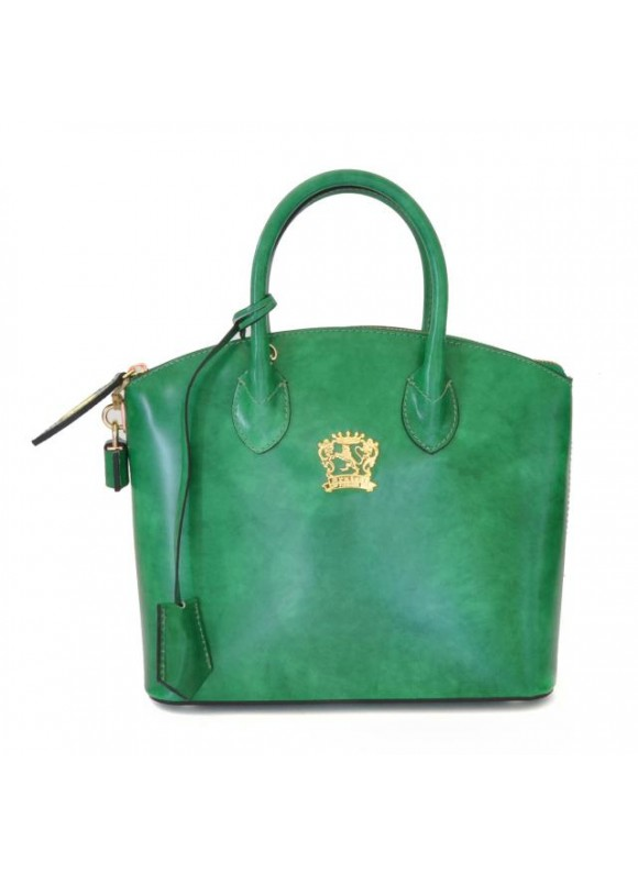 Pratesi Versilia Small Handbag in cow leather - Radica Emerald