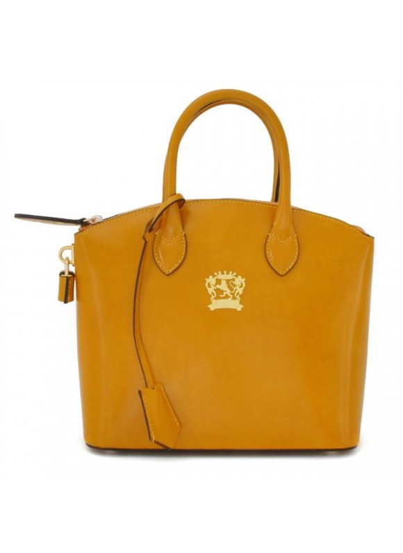 Pratesi Versilia Small Handbag in cow leather - Radica Mustard