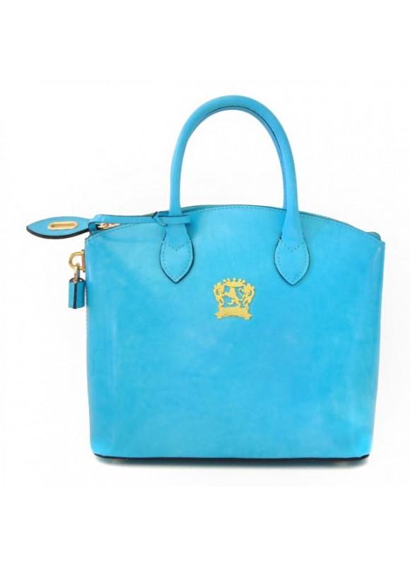 Pratesi Versilia Small Handbag in cow leather - Radica Sky Blue