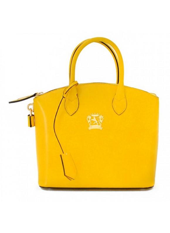 Pratesi Versilia Small Handbag in cow leather - Radica Yellow