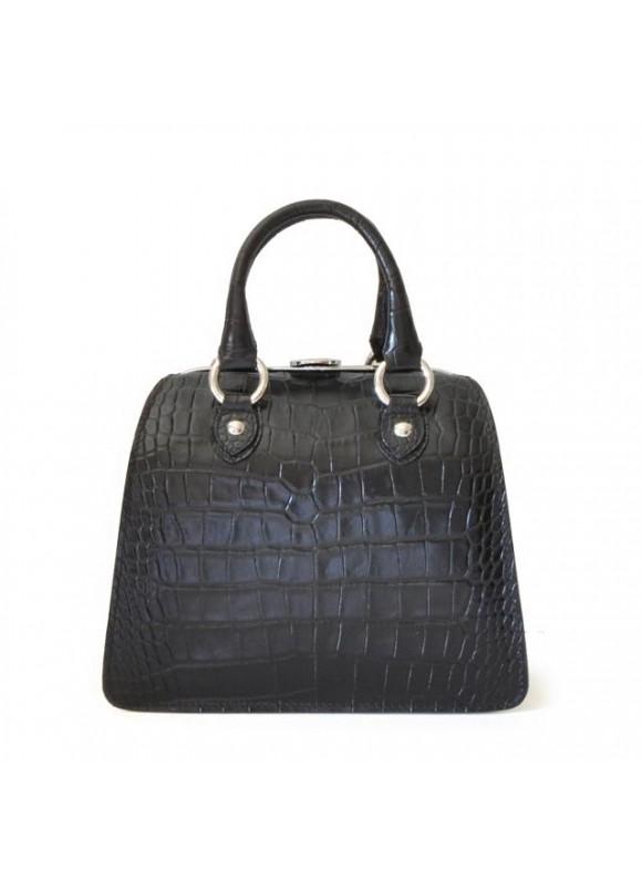 Pratesi Saturnia Small King Handbag in cow leather - King Black