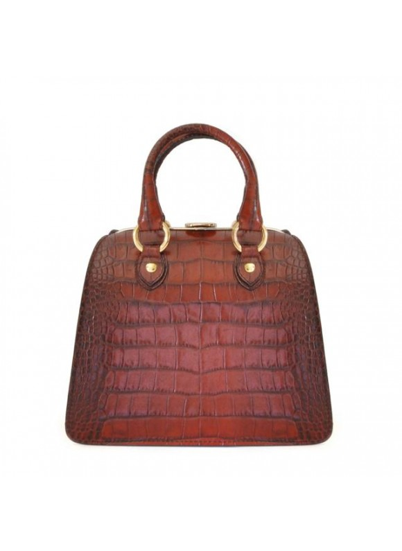 Pratesi Saturnia Small King Handbag in cow leather - King Brown