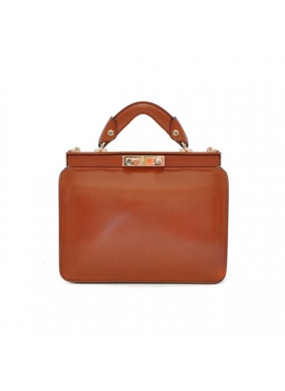 Pratesi Vittoria Colonna Lady Bag in cow leather - Radica Brown