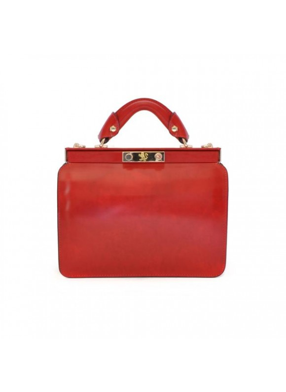 Pratesi Vittoria Colonna Lady Bag in cow leather - Radica cherry