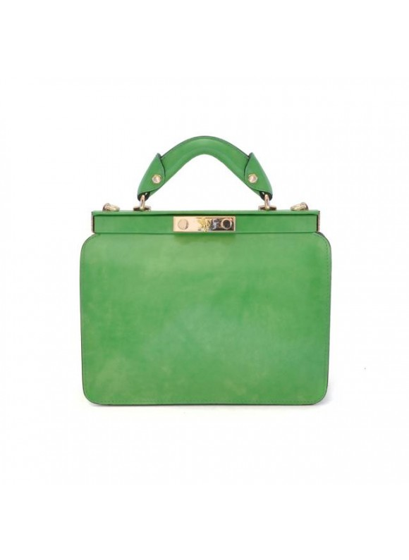 Pratesi Vittoria Colonna Lady Bag in cow leather - Radica Green