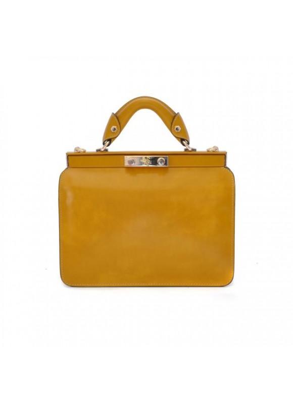 Pratesi Vittoria Colonna Lady Bag in cow leather - RAdica Mustard