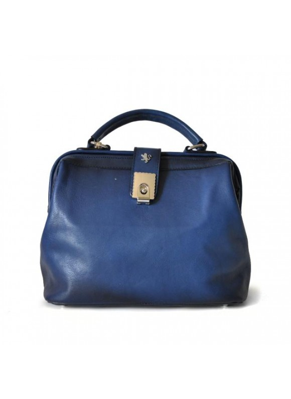 Pratesi Certaldo Bag in cow leather - Bruce Blue