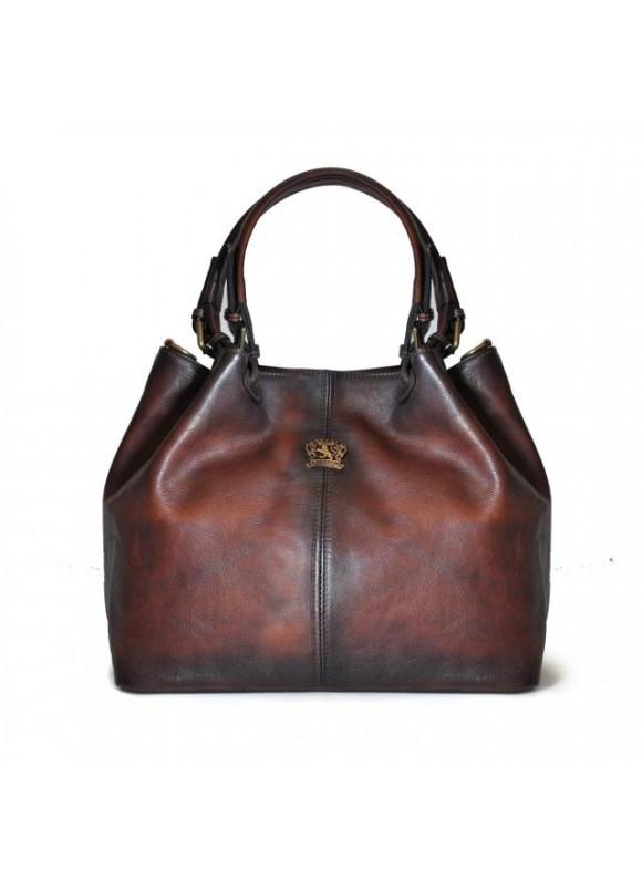 Pratesi Collodi Small Woman Bag in cow leather - Bruce Coffee