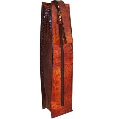 Pratesi Arianna King Wine Case in cow leather - King Cognac