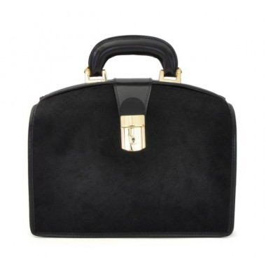 Pratesi Miss Brunelleschi Cavallino Lady Bag in real leather - Cavallino Black
