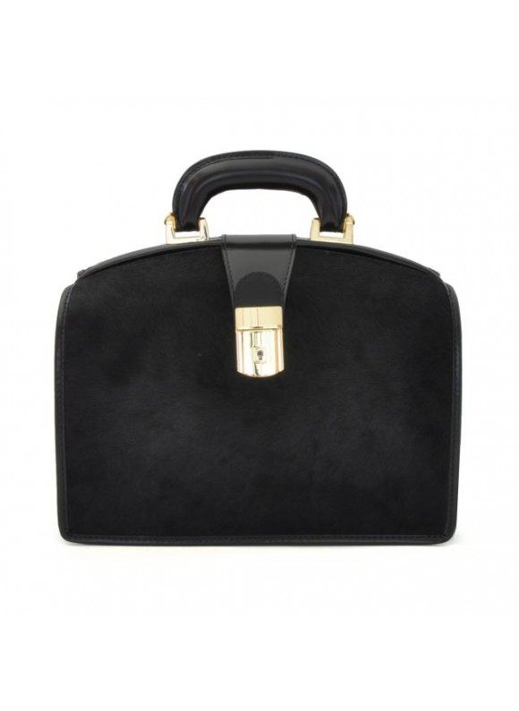 Pratesi Miss Brunelleschi Cavallino Lady Bag in real leather - Cavallino Black