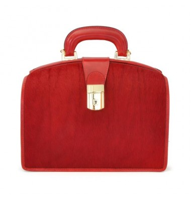 Pratesi Miss Brunelleschi Cavallino Lady Bag in real leather - Cavallino Cherry