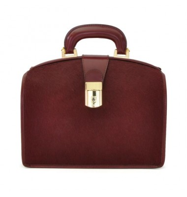 Pratesi Miss Brunelleschi Cavallino Lady Bag in real leather - Cavallino Chianti