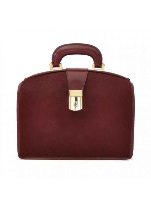 Pratesi Miss Brunelleschi Cavallino Lady Bag in real leather - Cavallino Chianti