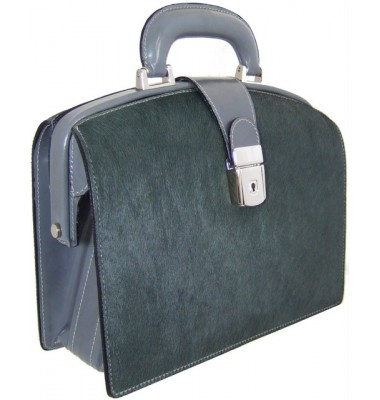 Pratesi Miss Brunelleschi Cavallino Lady Bag in real leather - Cavallino Grey